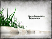 Nature & Environment: Stones and Grass PowerPoint Template #04639