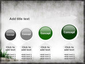 Stones and Grass PowerPoint Template#13