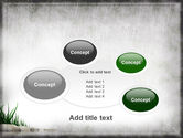 Stones and Grass PowerPoint Template#16