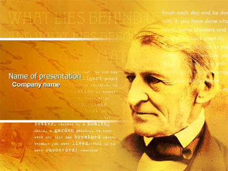 Ralph Waldo Emerson PowerPoint Template, 04642, Education & Training — PoweredTemplate.com