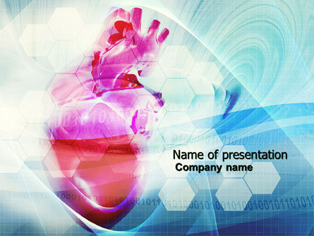 Medical: Artificial Heart PowerPoint Template #04644