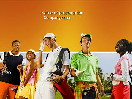 Sports: Golf Fun PowerPoint Template #04646