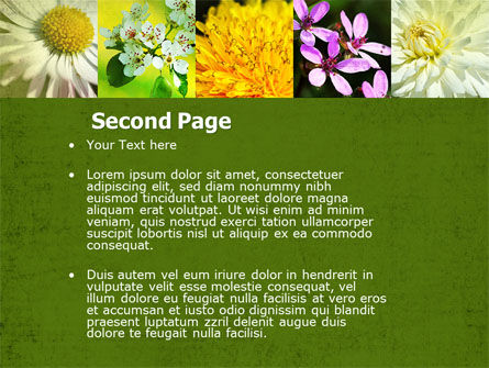 Floristic PowerPoint Template, Slide 2, 04648, Nature & Environment — PoweredTemplate.com