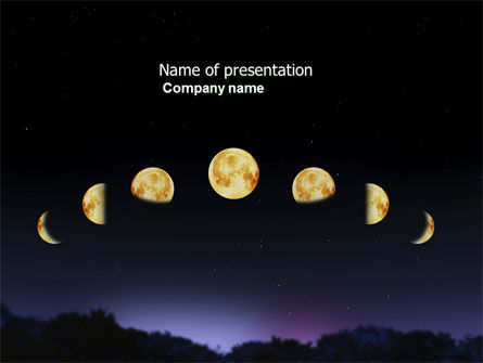 Education & Training: Modèle PowerPoint de phases lunaires #04650
