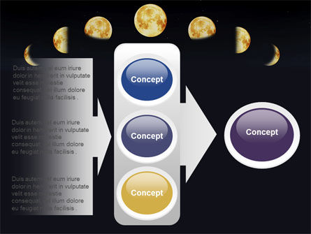 Lunar Phases PowerPoint Template Slide 11