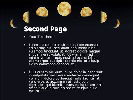 Lunar Phases PowerPoint Template Slide 2