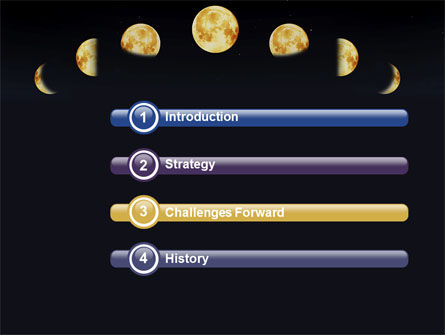 Lunar Phases PowerPoint Template Slide 3