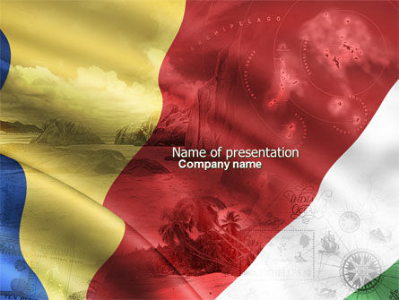 Flag of the Republic of Seychelles PowerPoint Template