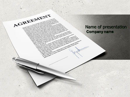 Agreement PowerPoint Template, 04652, Consulting — PoweredTemplate.com