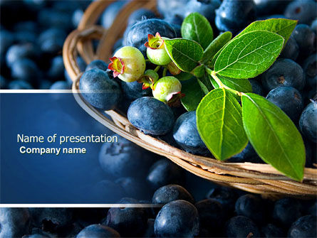 Agriculture: Bilberry PowerPoint Template #04655