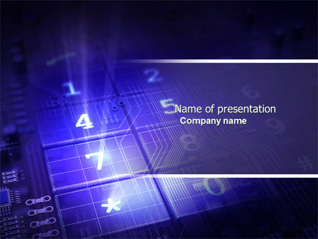 Panel PowerPoint Template, 04657, Telecommunication — PoweredTemplate.com