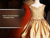 Careers/Industry: Costume PowerPoint Template #04658