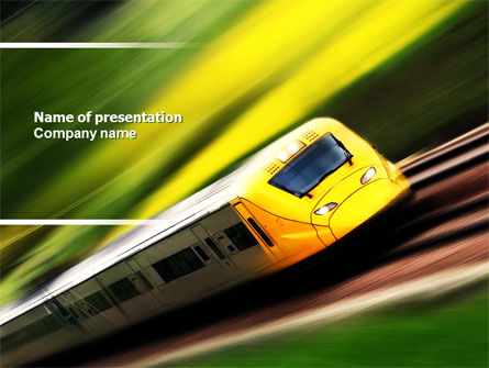 High-Speed Rail PowerPoint Template