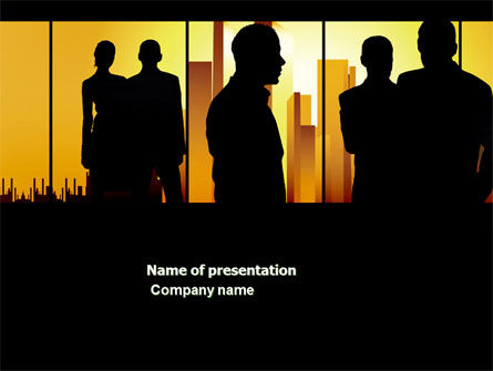 Business: Silhouettes PowerPoint Template #04665