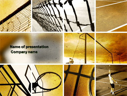 Ball Games PowerPoint Template, 04668, Sports — PoweredTemplate.com