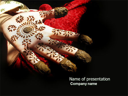 Hennaed Hands PowerPoint Template, 04669, Art & Entertainment — PoweredTemplate.com