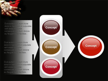 Hennaed Hands PowerPoint Template Slide 11