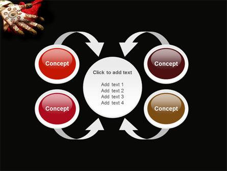 Hennaed Hands PowerPoint Template Slide 6