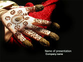 Art & Entertainment: Hennaed Hands PowerPoint Template #04669