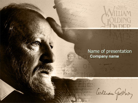 People: William Golding PowerPoint Template #04670