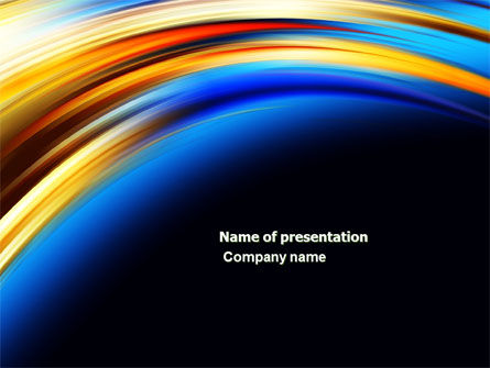 Abstract Arc PowerPoint Template