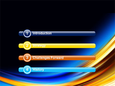 Abstract Arc PowerPoint Template Slide 3
