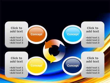 Abstract Arc PowerPoint Template Slide 9