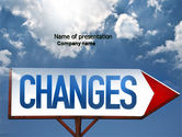 Business Concepts: Way To Changes PowerPoint Template #04676