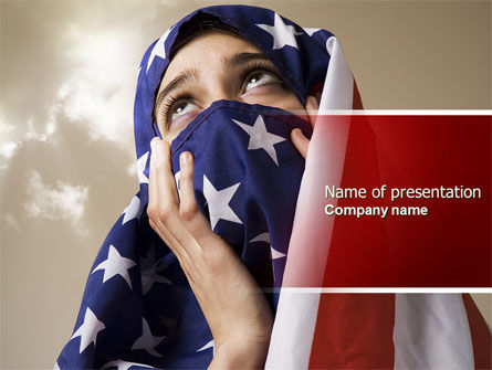 American Moslem PowerPoint Template, 04677, America — PoweredTemplate.com
