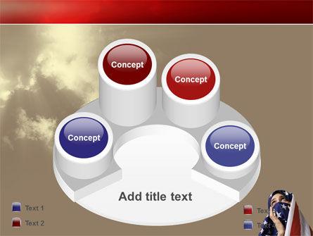 American Moslem PowerPoint Template Slide 12
