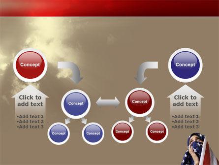 American Moslem PowerPoint Template Slide 19