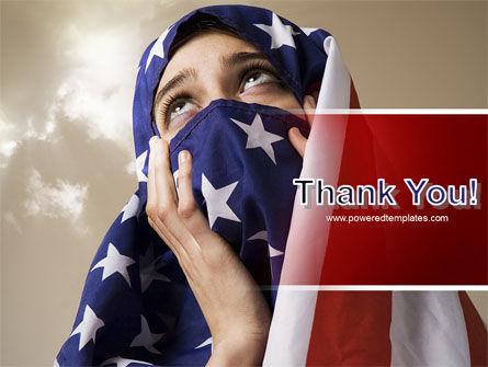 American Moslem PowerPoint Template Slide 20