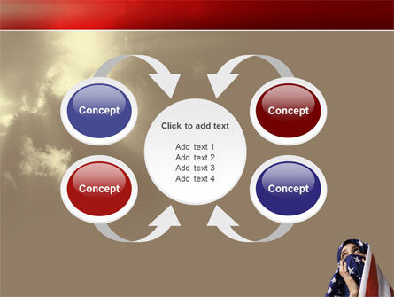 American Moslem PowerPoint Template Slide 6