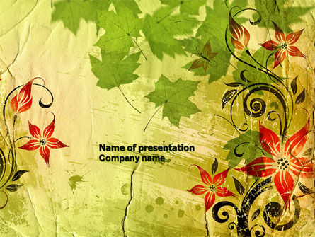 Abstract/Textures: Plantilla de PowerPoint - tema de primavera #04679