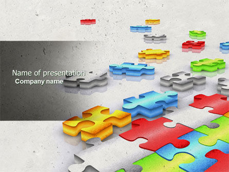 Business Concepts: Puzzle Diversity PowerPoint Template #04680