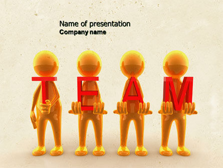 Team Player PowerPoint Template, 04682, Consulting — PoweredTemplate.com