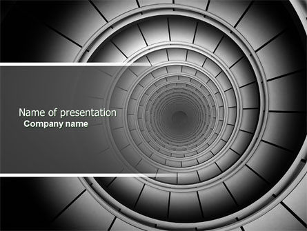 Spiral Staircase PowerPoint Template, 04683, Construction — PoweredTemplate.com