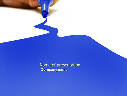 Business Concepts: Blue Marker PowerPoint Template #04685