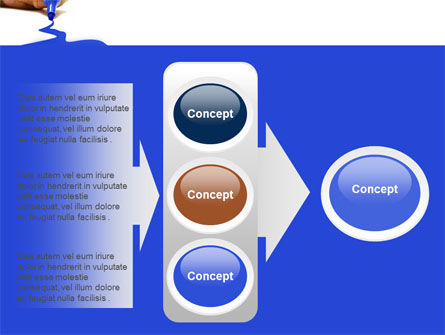 Blue Marker PowerPoint Template Slide 11