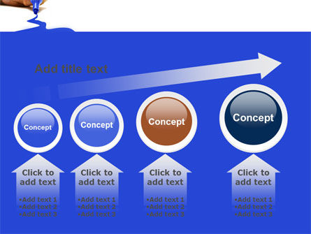 Blue Marker PowerPoint Template Slide 13