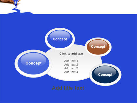 Blue Marker PowerPoint Template Slide 16