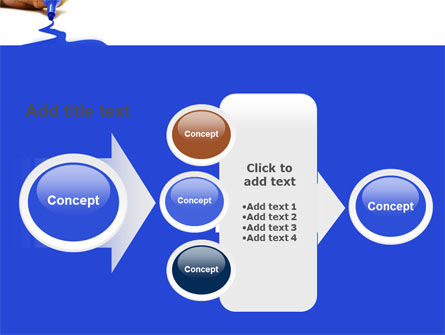 Blue Marker PowerPoint Template Slide 17