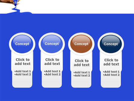 Blue Marker PowerPoint Template Slide 5
