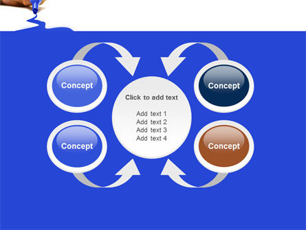 Blue Marker PowerPoint Template Slide 6