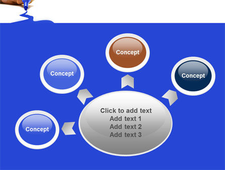 Blue Marker PowerPoint Template Slide 7