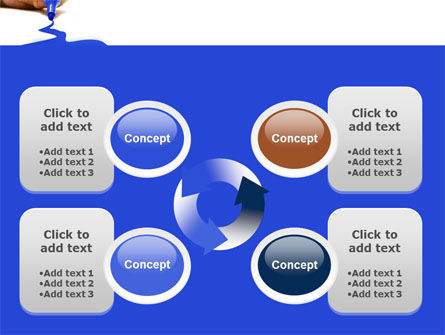 Blue Marker PowerPoint Template Slide 9