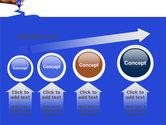 Blue Marker PowerPoint Template#13