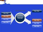 Blue Marker PowerPoint Template#14