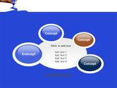 Blue Marker PowerPoint Template#16