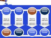 Blue Marker PowerPoint Template#18